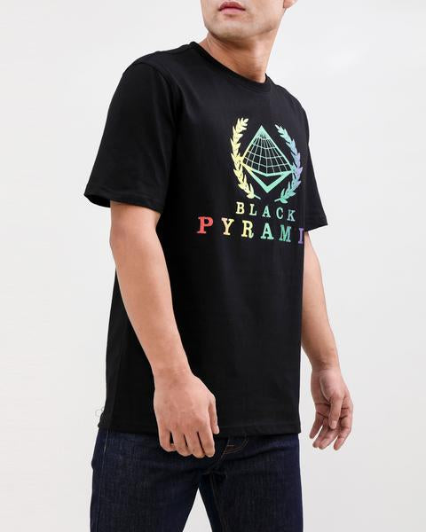 BP CREST RAINBOW TEE-COLOR: BLACK