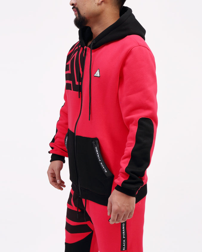 BP Zipper Tech Hoody - Color: Red
