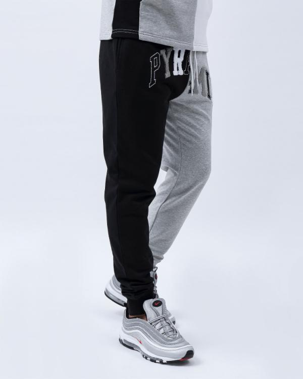 VARSITY SPLIT PANT-COLOR: BLACK