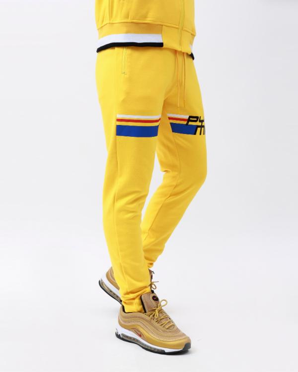 BP FUTURE CLASSIC TRACK PANT-COLOR: BLACK-COLOR: YELLOW