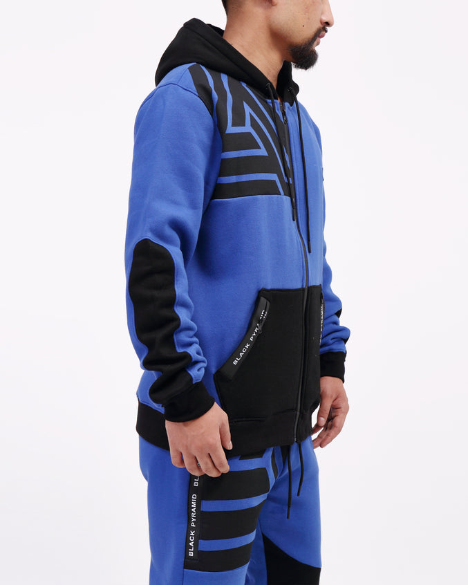 BP Zipper Tech Hoody - Color: BLUE