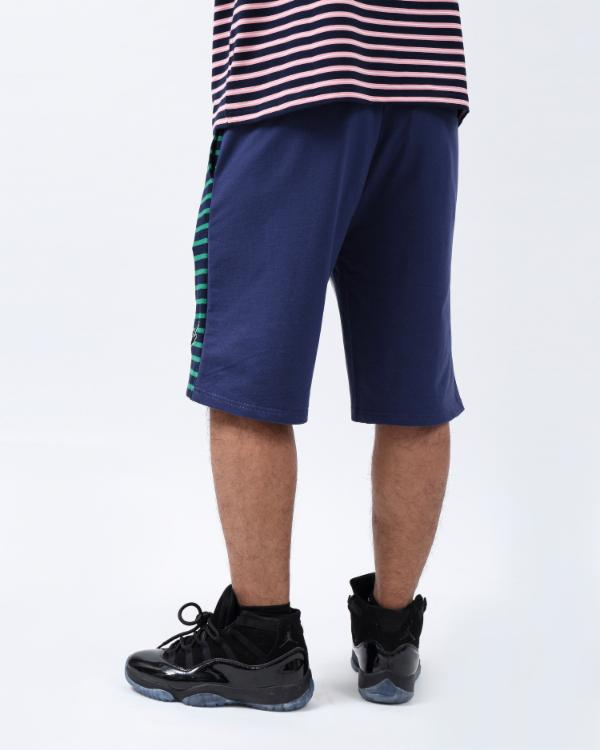 SCRIPT STRIPE SHORTS-COLOR: GREEN