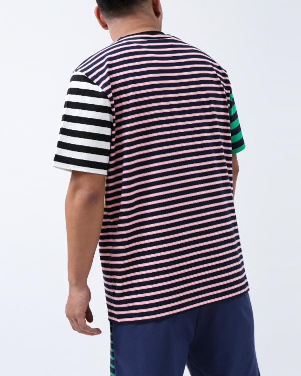 SCRIPT STRIPE SHIRT-COLOR: GREEN