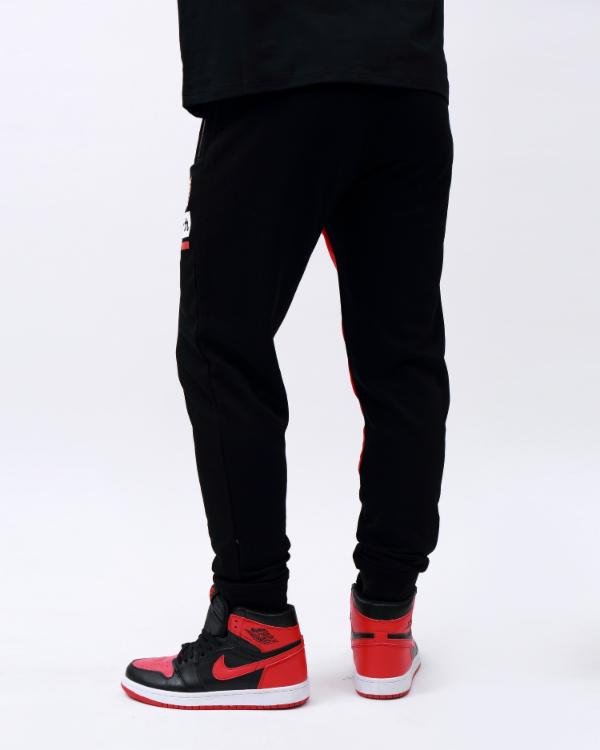 OG DRIP LOGO PYRAMID JOGGERS-COLOR: BLACK