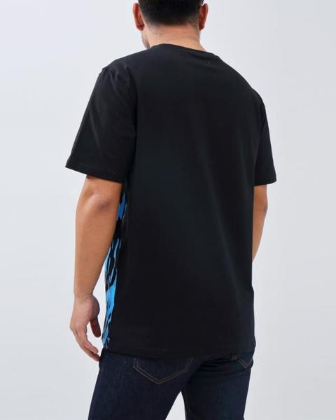 BIG AND TALL ROAR SHIRT-COLOR: BLACK
