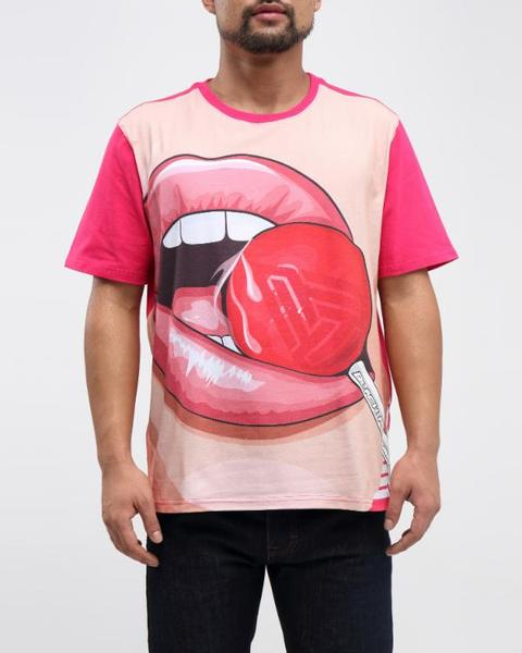 BIG AND TALL LOLLIPOP SHIRT-COLOR: RED