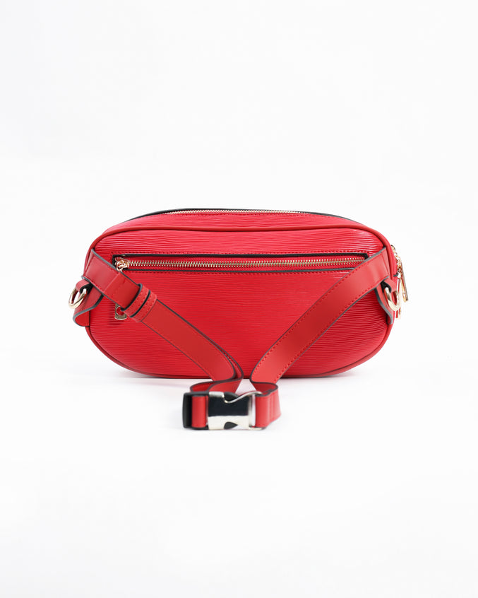 Lux Pyramid Sling Bags - Color: Red