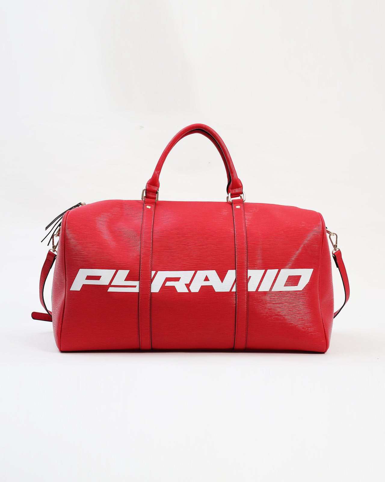 Lux Pyramid weekend Duffle Bag - Color: Red
