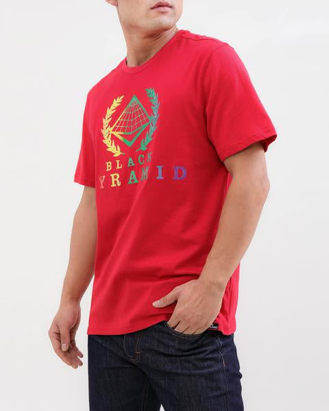 BP CREST RAINBOW TEE-COLOR: RED