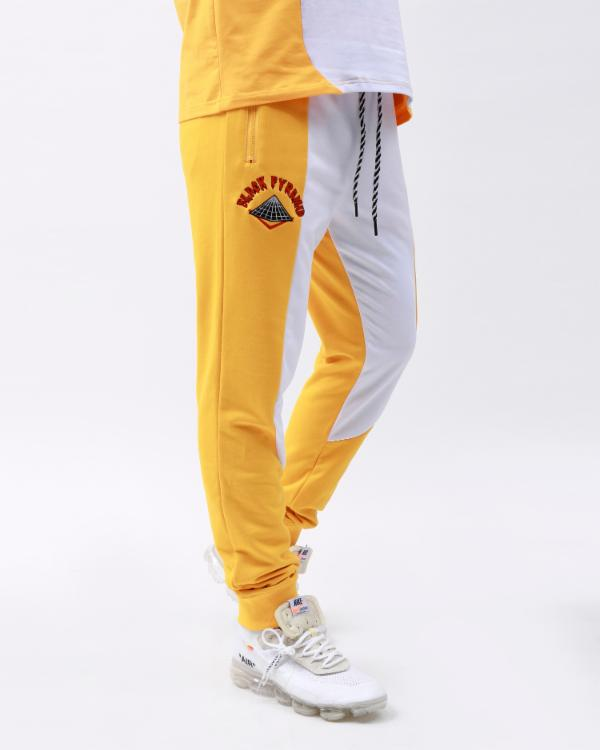 OG DRIP LOGO PYRAMID JOGGERS-COLOR: YELLOW