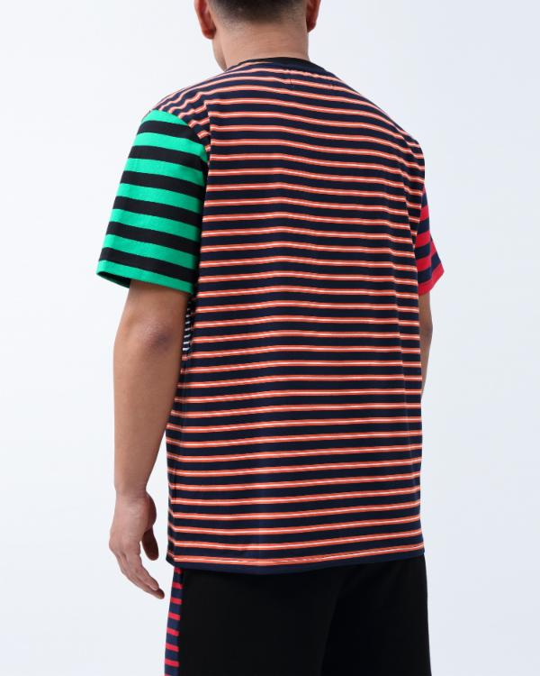 SCRIPT STRIPE SHIRT-COLOR: ORANGE