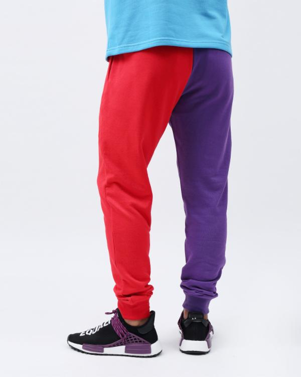 VARSITY SPLIT PANT-COLOR: PURPLE