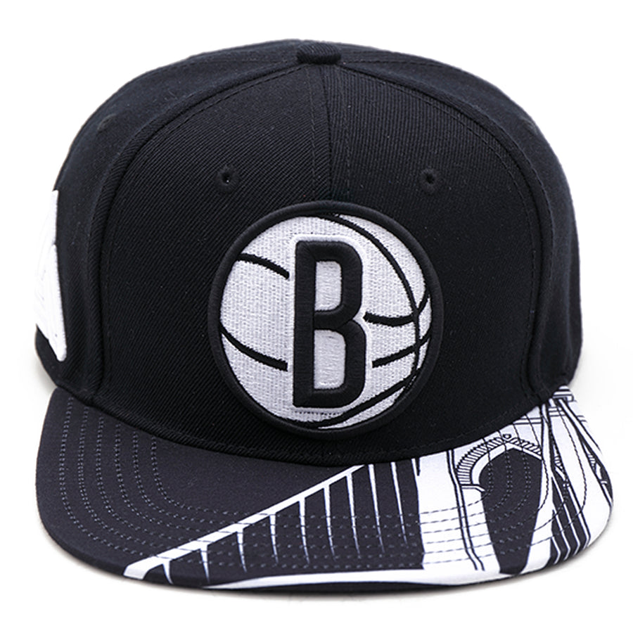 Brooklyn Nets Ball Logo Snapback Hat
