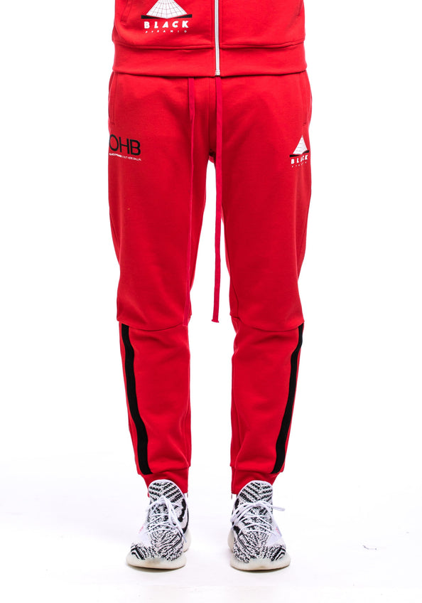 OHB Logo Track Pant - Color: RED