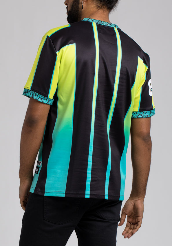 Pyramid Soccer V Neck Shirt - Color: Green