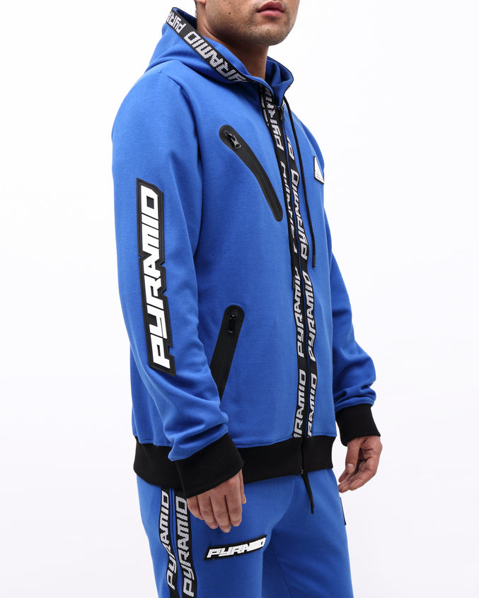 PYRAMID TECH ZIP UP HOODY - Color: ROYAL BLUE