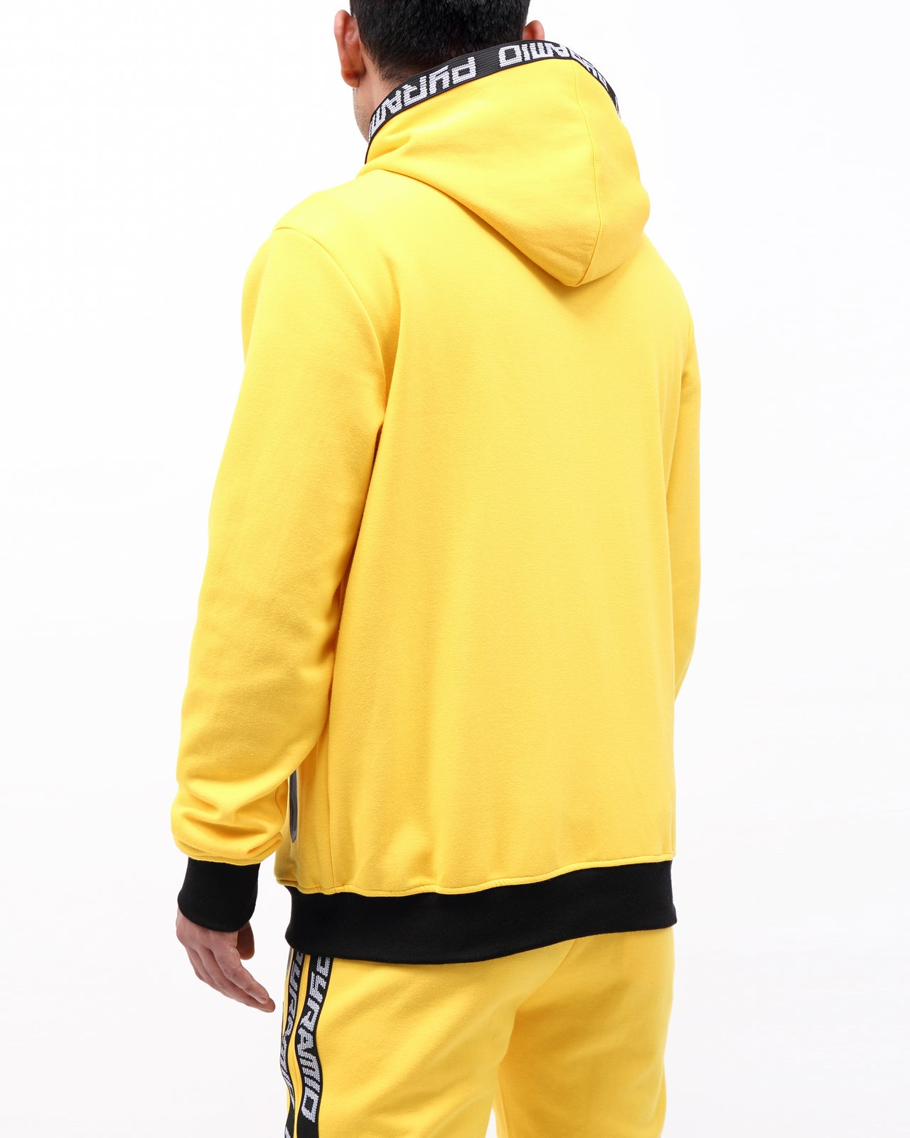 PYRAMID TECH ZIP UP HOODY - Color: Yellow