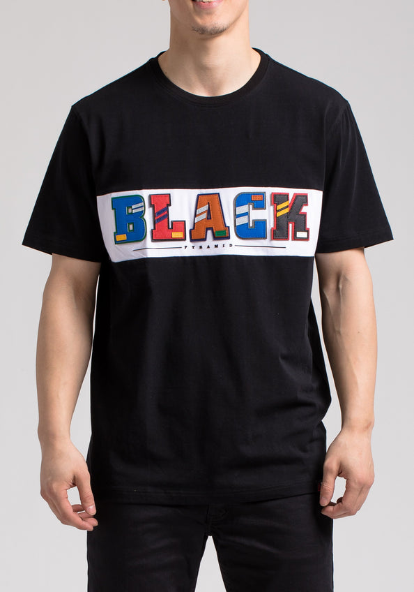 BP LETTERS SS SHIRT - Color: Black