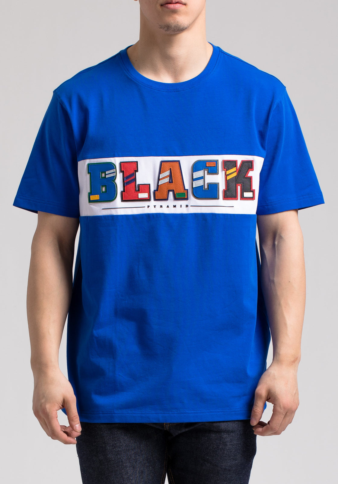BP LETTERS SS SHIRT - Color: Blue