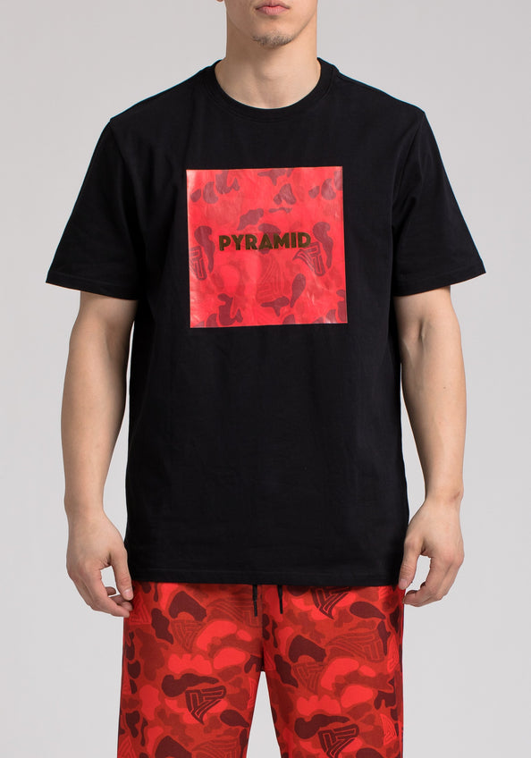 GOLDEN PYRAMID CAMO SS SHIRT - Color: Black