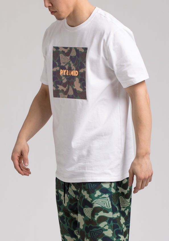 GOLDEN PYRAMID CAMO SS SHIRT - Color: White