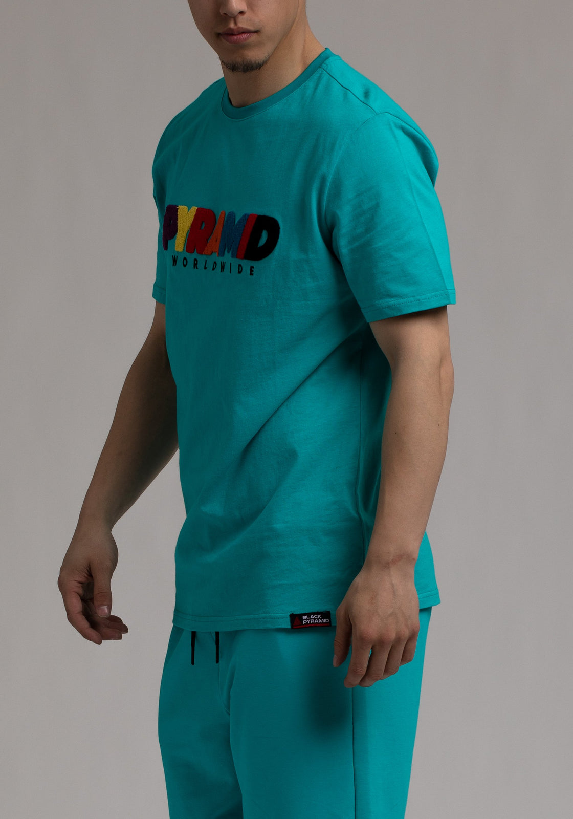 Pyramid World Wide Tee - Color: Blue