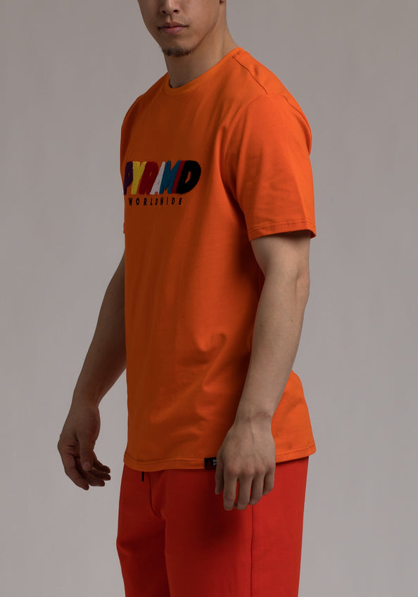Pyramid World Wide Tee - Color: ORANGE