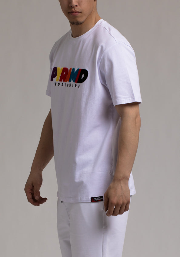 Pyramid World Wide Tee - Color: White