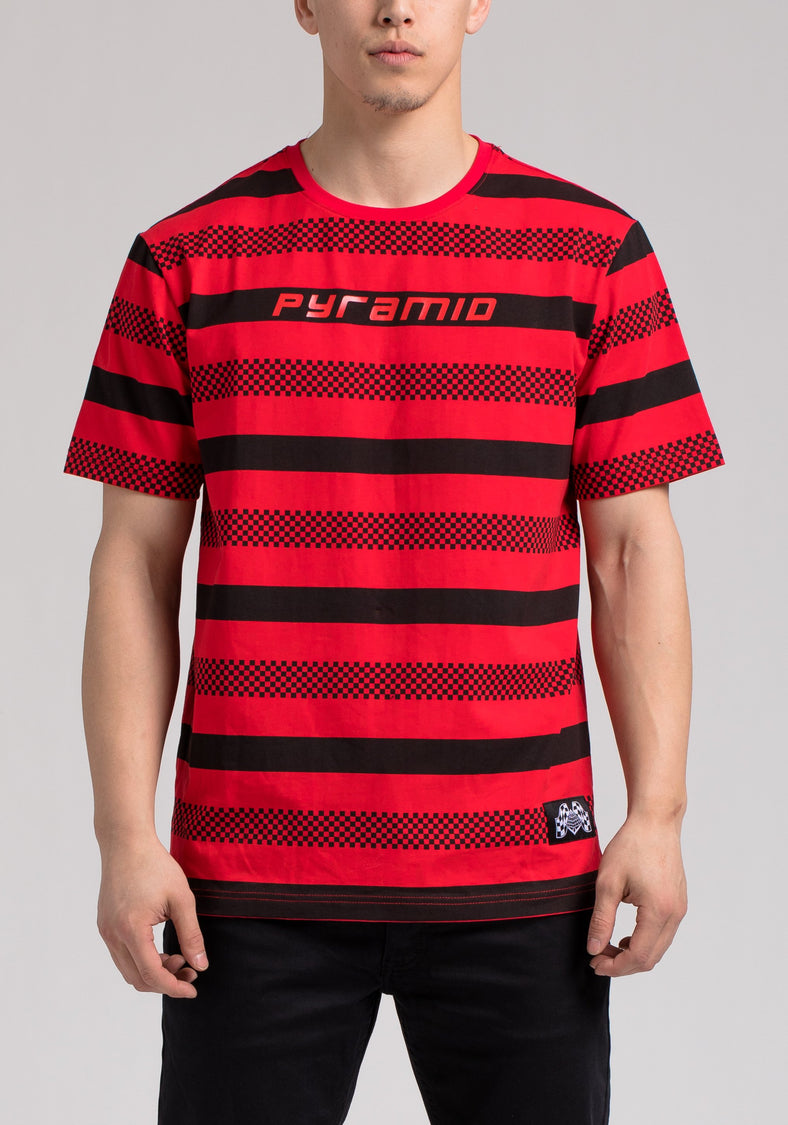 BP MICRO CHECKER STRIPE TEE