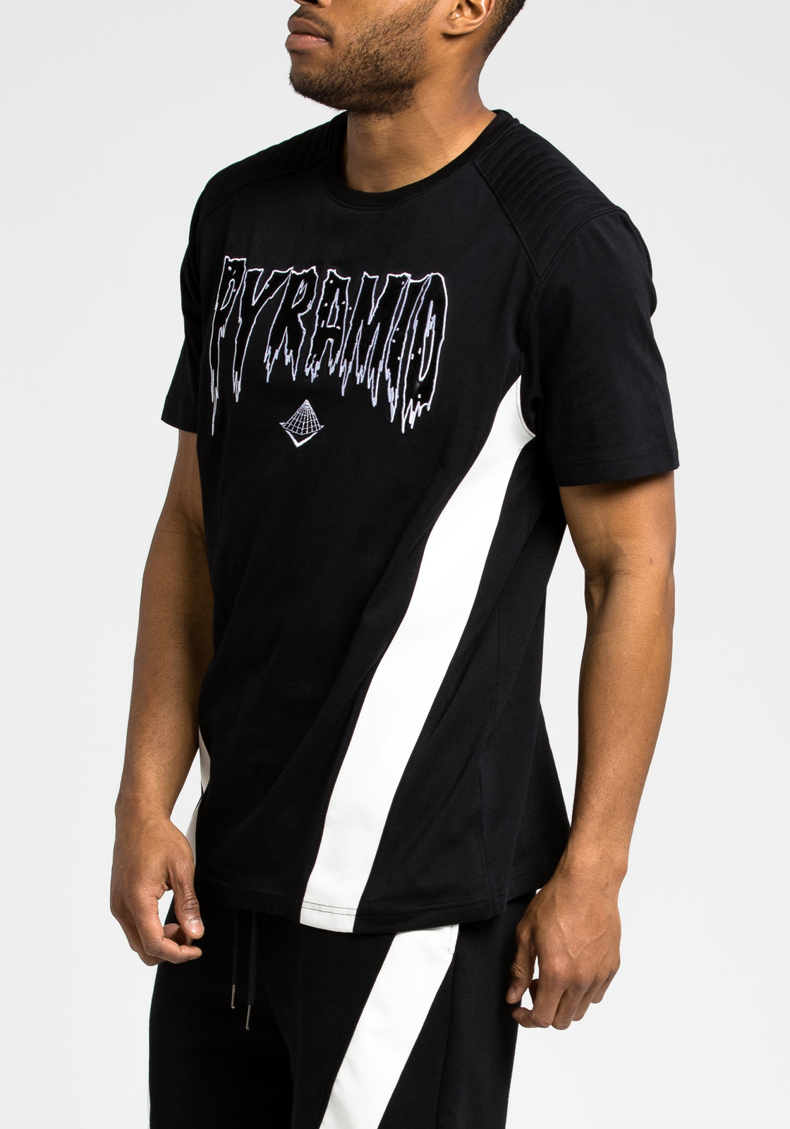 PU Pyramid Tee - Color: Black