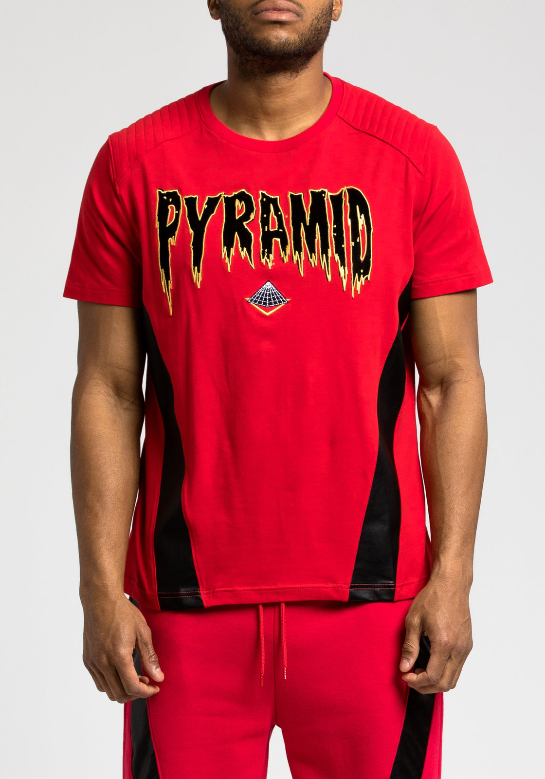 PU Pyramid Tee - Color: RED