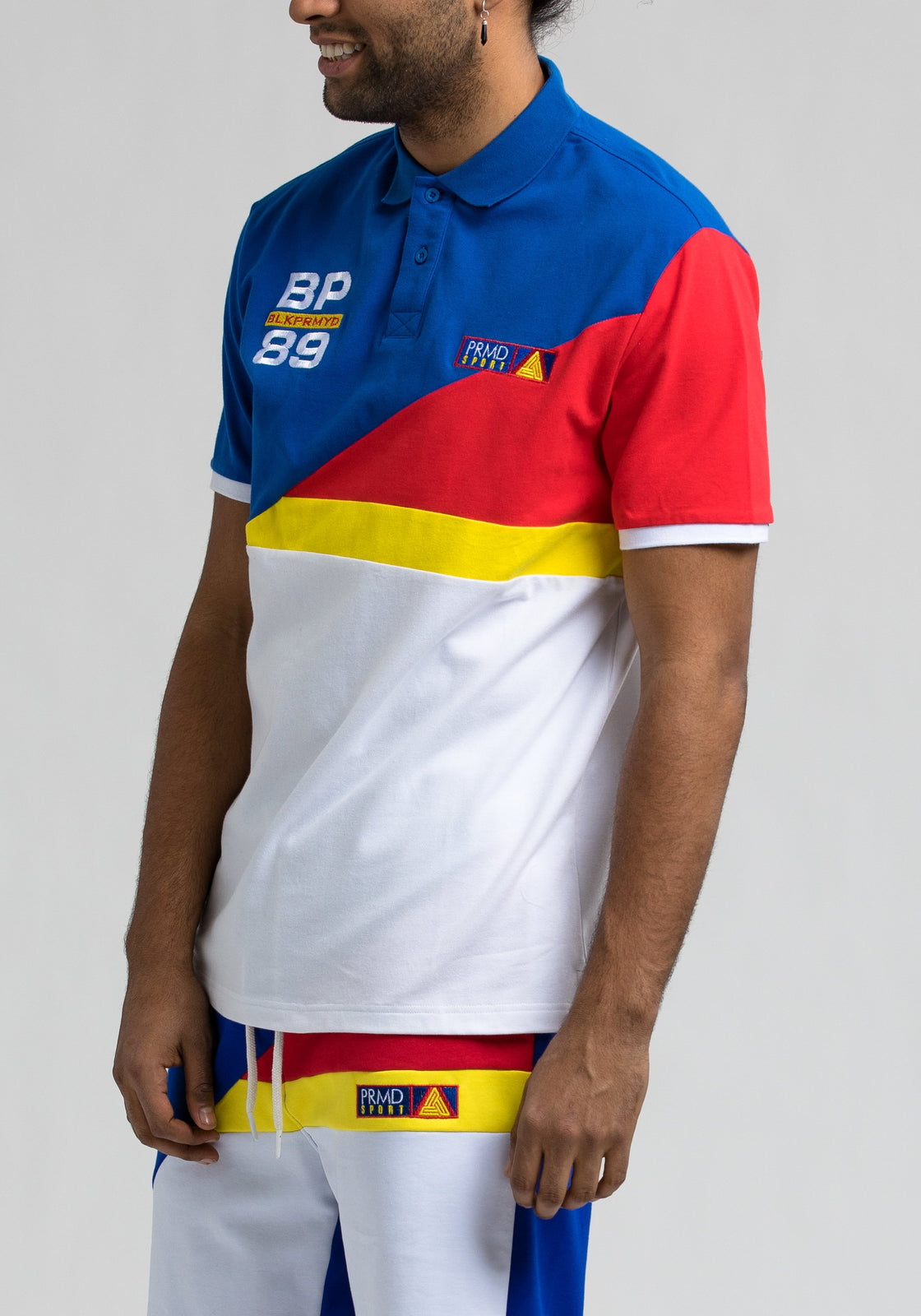 Bp 89 Colorblock Polo - Color: Blue