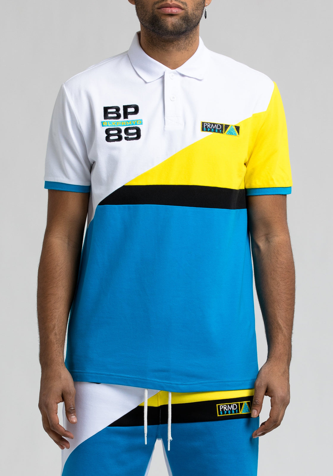 Bp 89 Colorblock Polo - Color: White