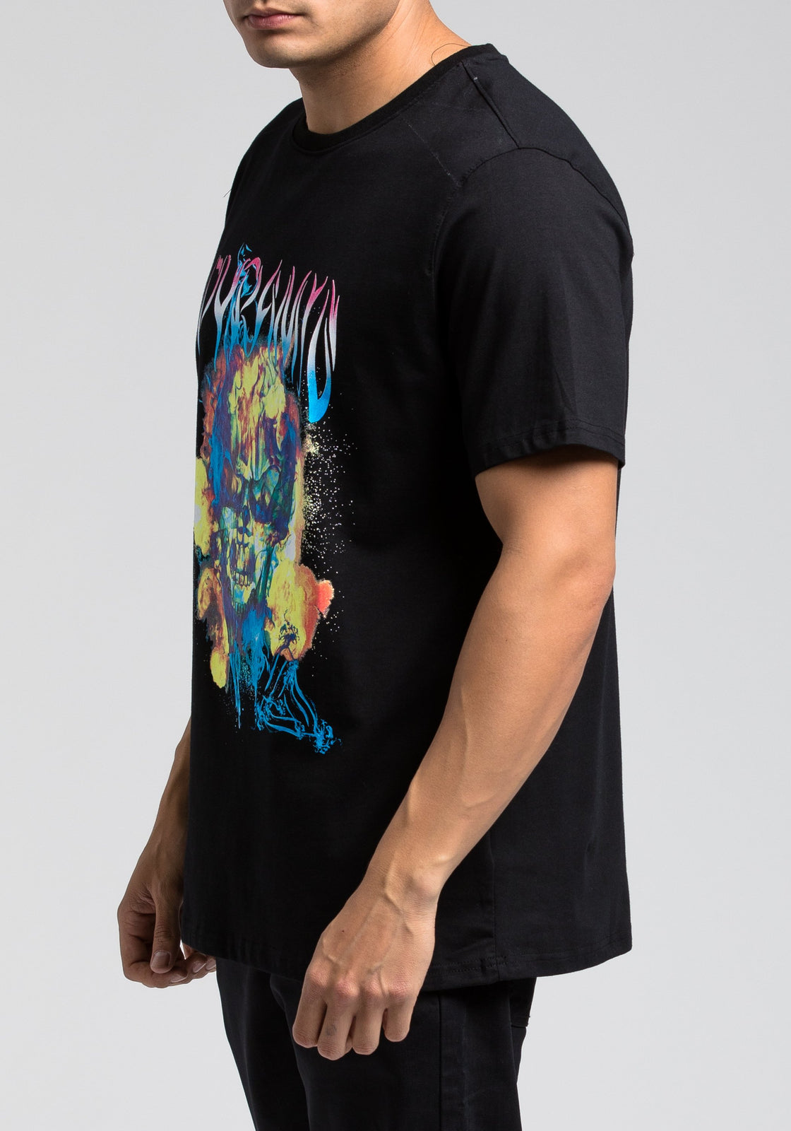 Flame Skull Tee - Color: Black
