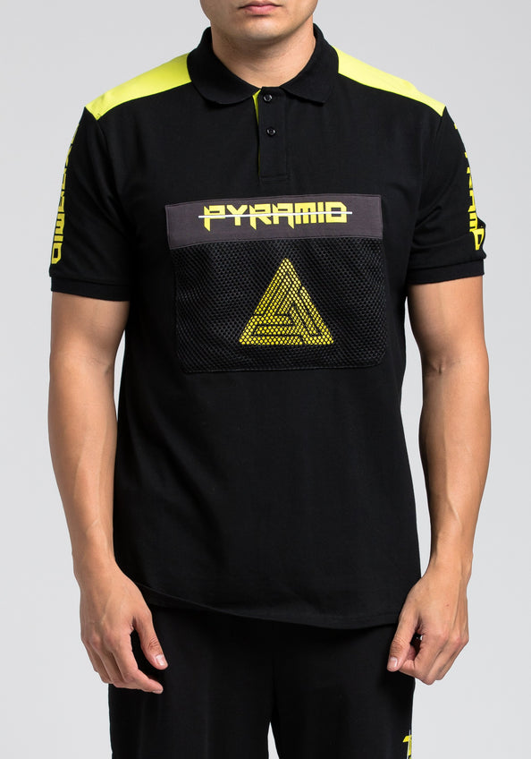 Pyramid Polo Shirt - Color: Black