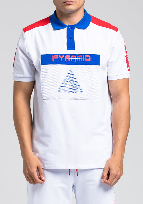 Pyramid Polo Shirt - Color: White