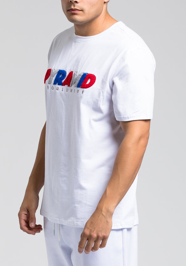 Pyramid Worldwide Tee - Color: White