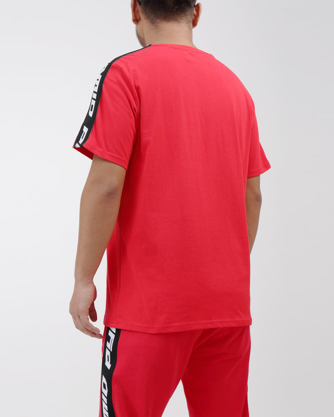 Pyrmaid Stripe Tee - Color: Red