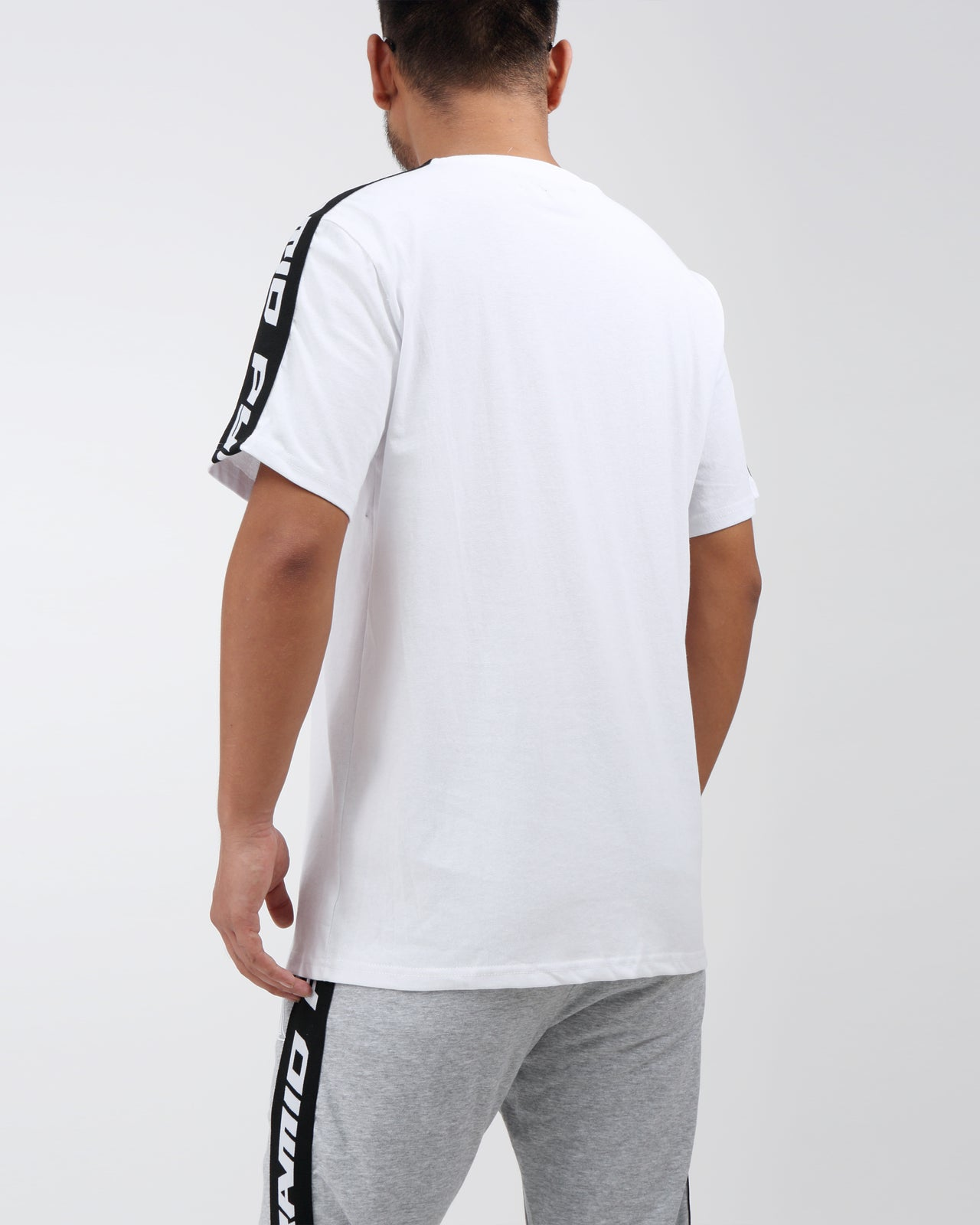 Pyrmaid Stripe Tee - Color: White