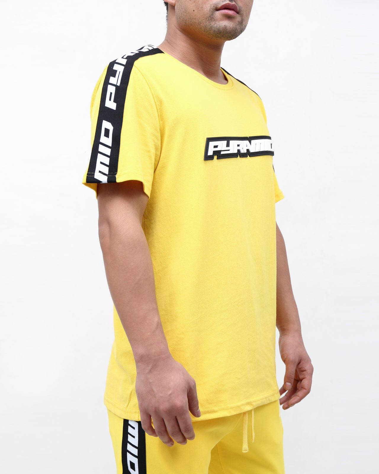 Pyrmaid Stripe Tee - Color: Yellow