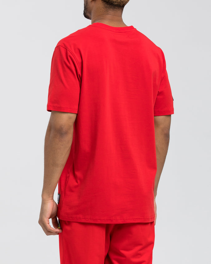 Black Pyramid Tee - Color: Red