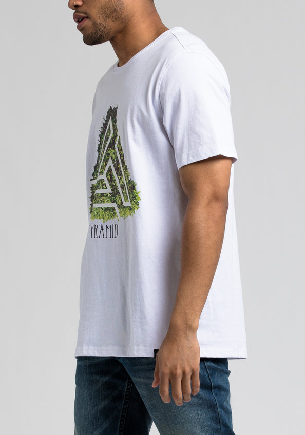 Pyramid Tree Tee - Color: White
