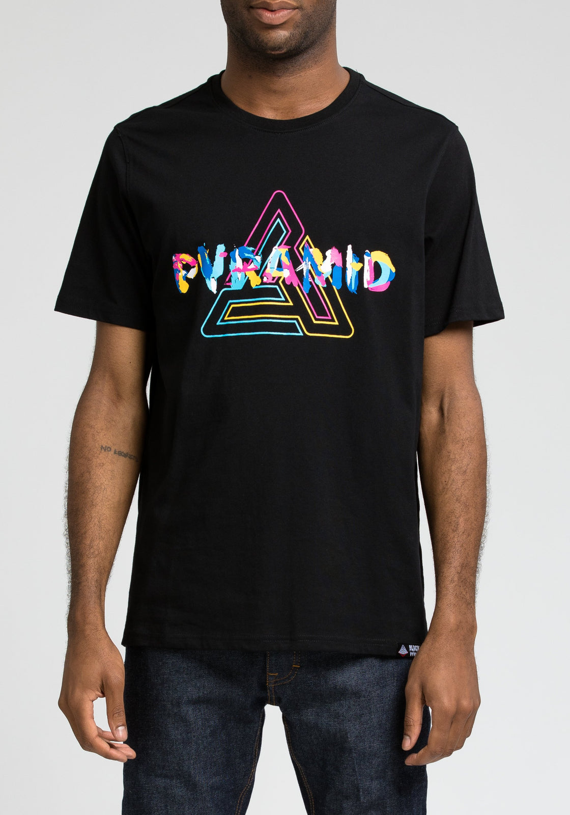 Collage Pyramid Tee - Color: Black