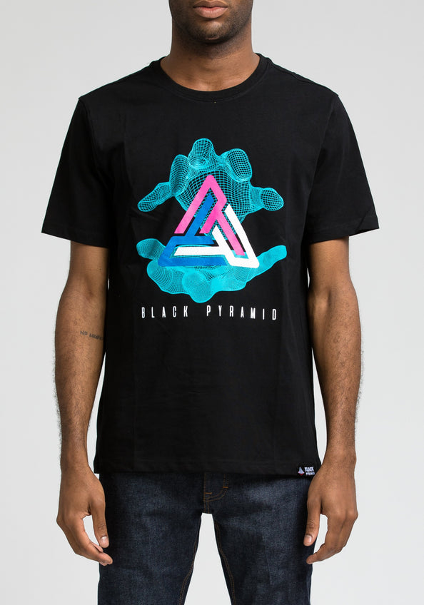 Pyramid In Hand Tee - Color: Black