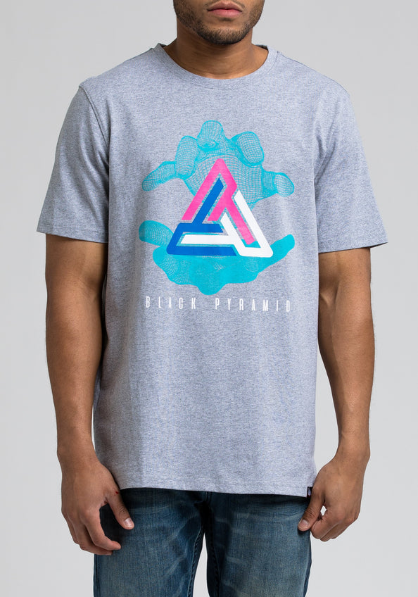 Pyramid In Hand Tee - Color: Gray