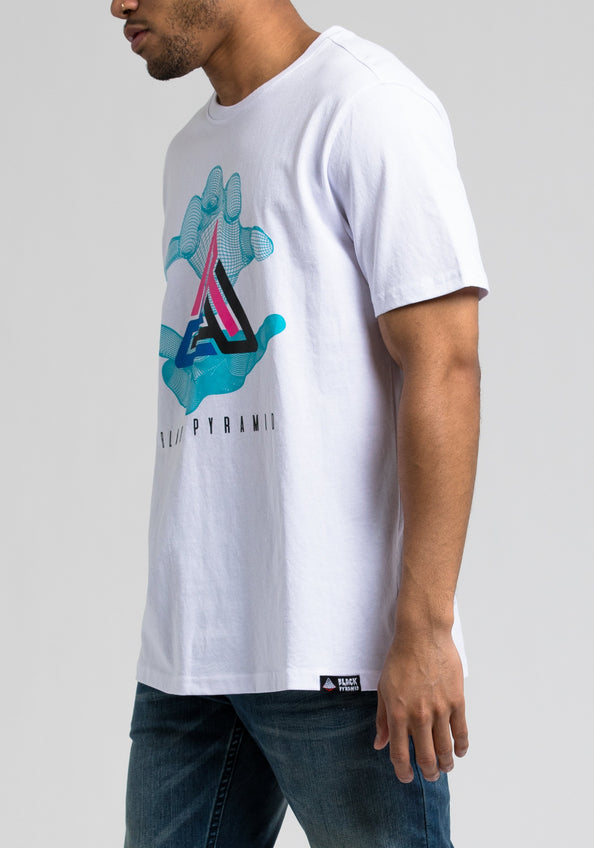 Pyramid In Hand Tee - Color: White