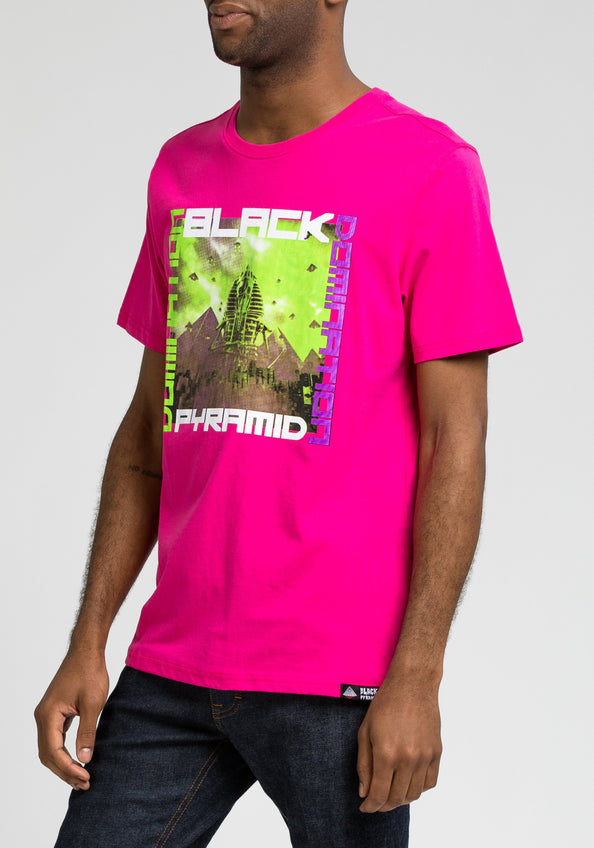 Skull Pyramid Attacks Tee - Color: Pink
