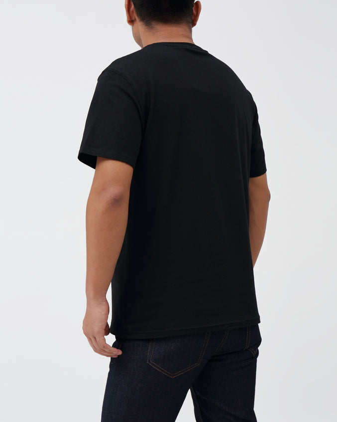 Space Travel Tee - Color: BLACK