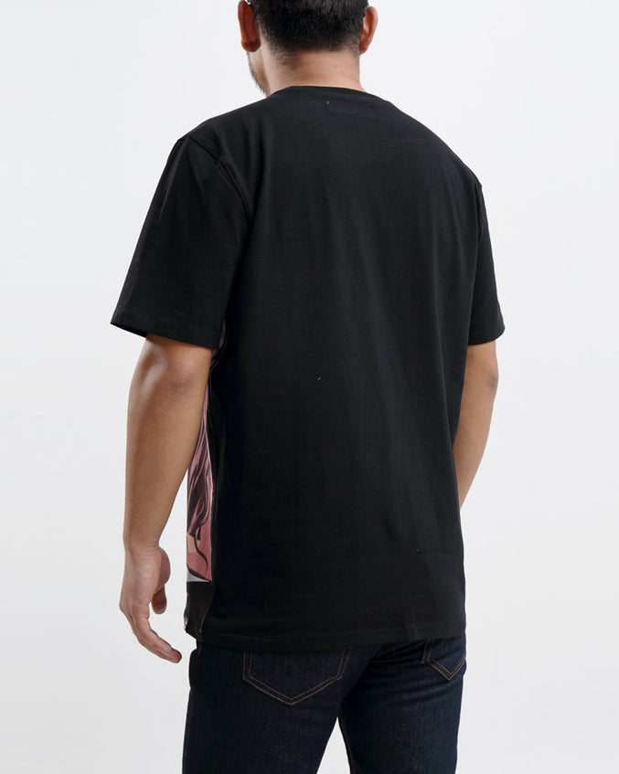 BP BEACH HUM LOGO TEE-COLOR: BLACK