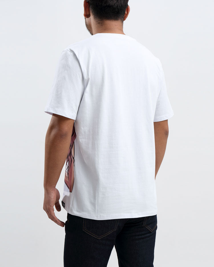 BP BEACH HUM LOGO TEE-COLOR: WHITE
